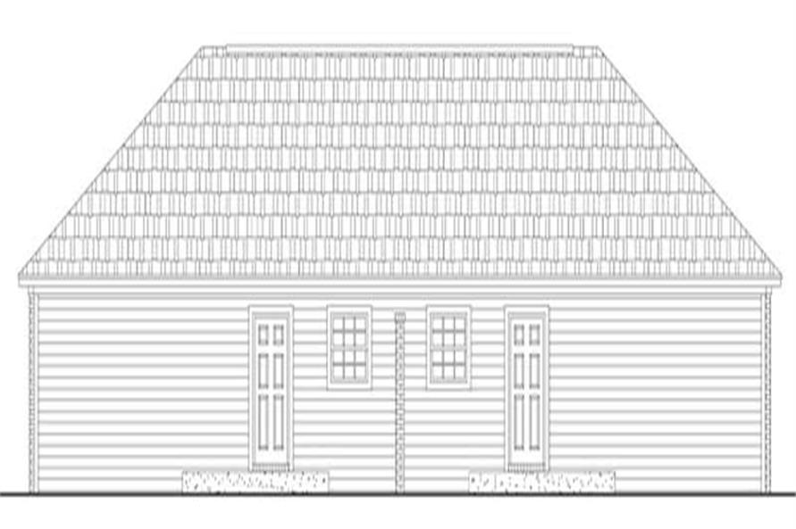 Home Plan Rear Elevation of this 2-Bedroom,1650 Sq Ft Plan -141-1223