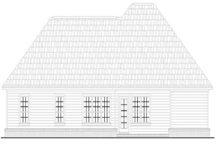 Home Plan Rear Elevation of this 2-Bedroom,1250 Sq Ft Plan -141-1224