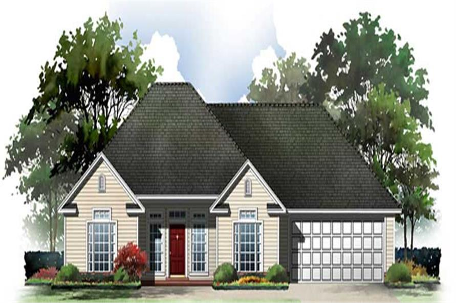 2-Bedroom, 1250 Sq Ft Country Home Plan - 141-1224 - Main Exterior