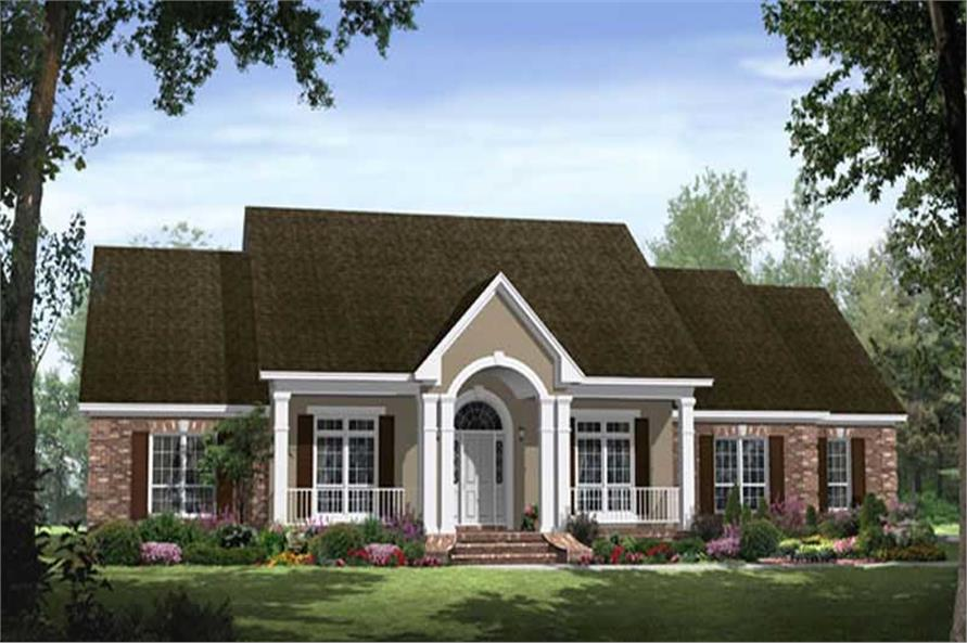 4-Bedroom, 2769 Sq Ft Country Home Plan - 141-1225 - Main Exterior