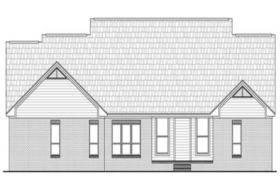 Home Plan Rear Elevation of this 4-Bedroom,2769 Sq Ft Plan -141-1225