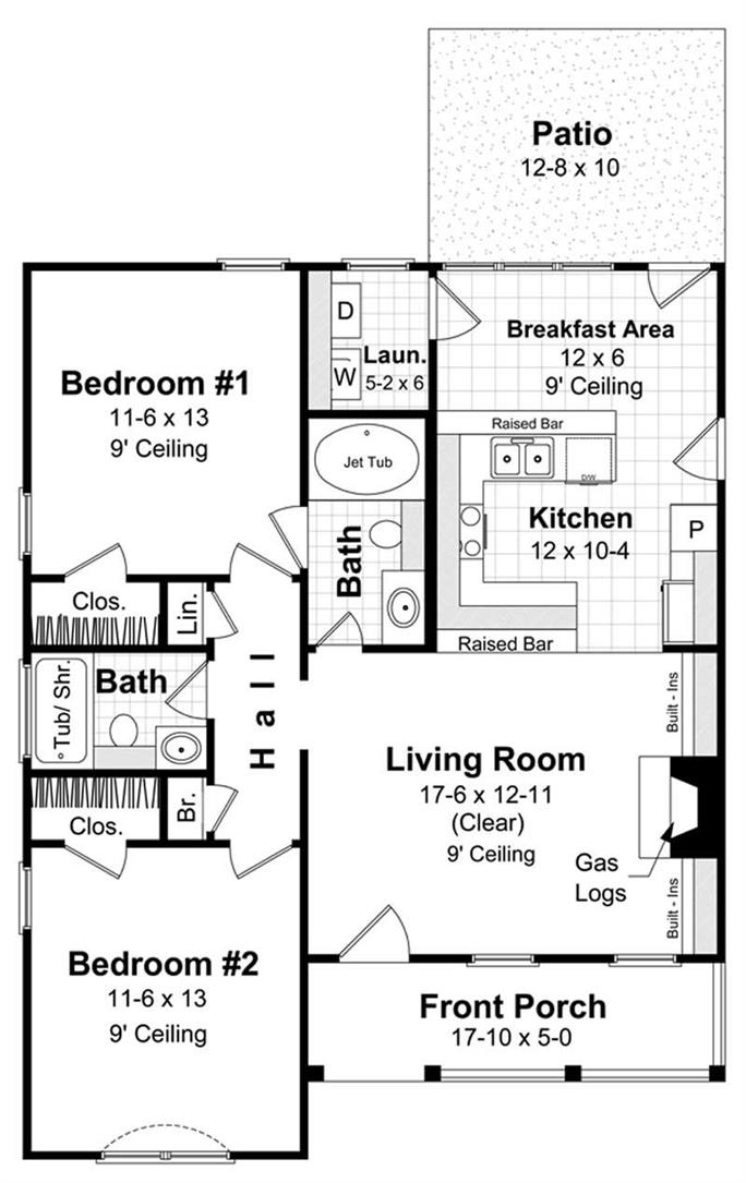 Southern  Traditional  Country House Plans   Home Design HPG     FLOOR PLANS Flip Floor Plans