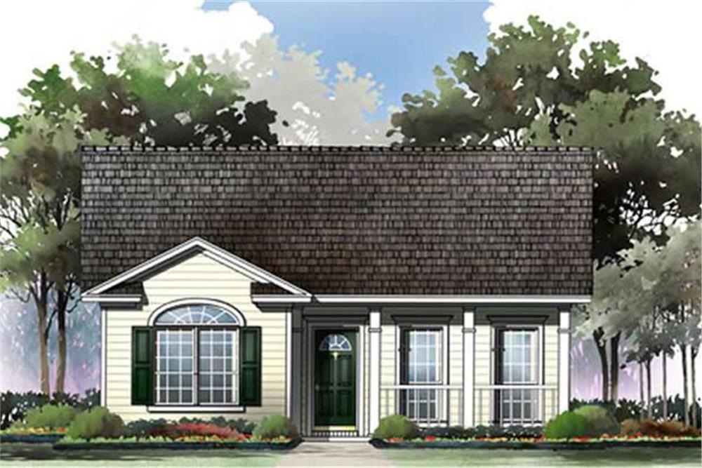 Front elevation of Country home (ThePlanCollection: House Plan #141-1230)