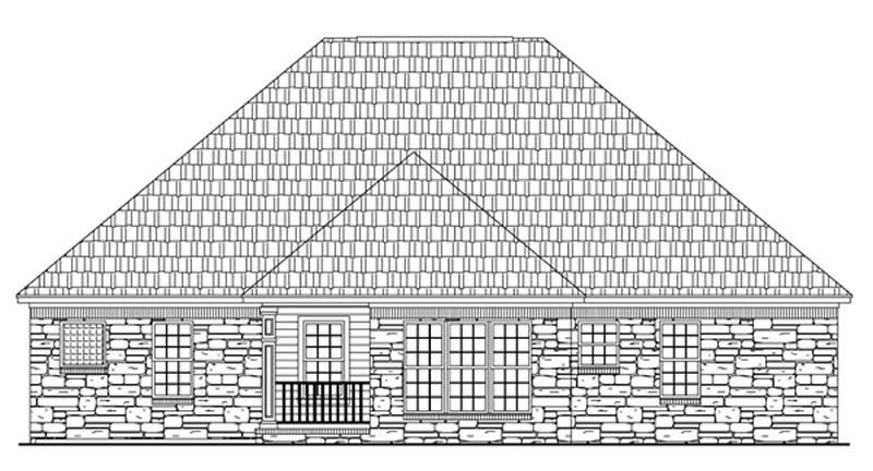3 Bedrm 1600 Sq Ft Acadian House Plan 141 1231
