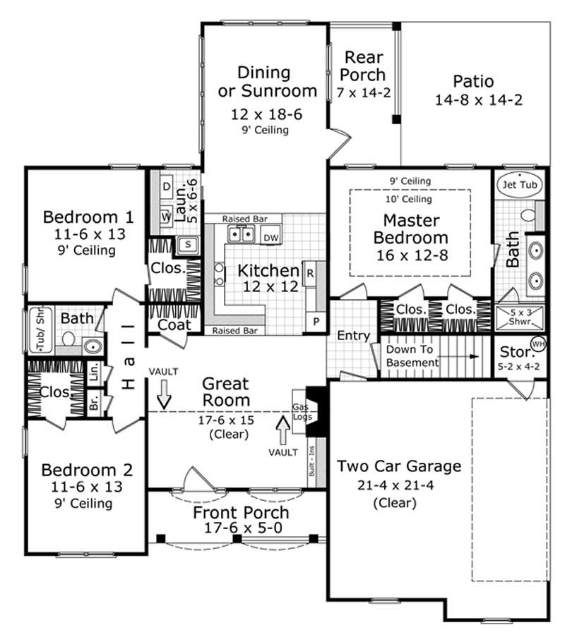 3 bedrm 1600 sq ft acadian house plan 141 1231 for 1600 square foot house plans
