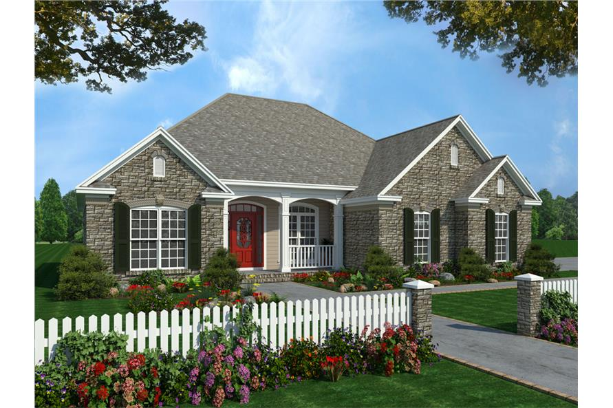 3-Bedroom, 1600 Sq Ft Acadian House Plan - 141-1231 - Front Exterior