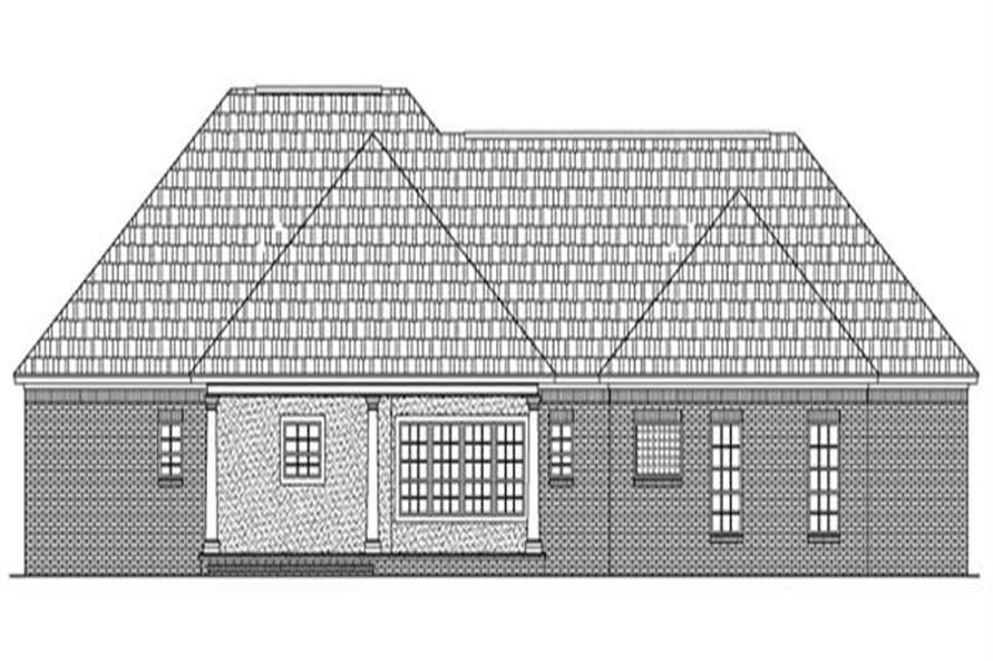 Home Plan Rear Elevation of this 3-Bedroom,1896 Sq Ft Plan -141-1232
