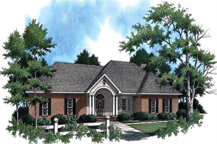 3-Bedroom, 1896 Sq Ft Country House Plan - 141-1232 - Front Exterior