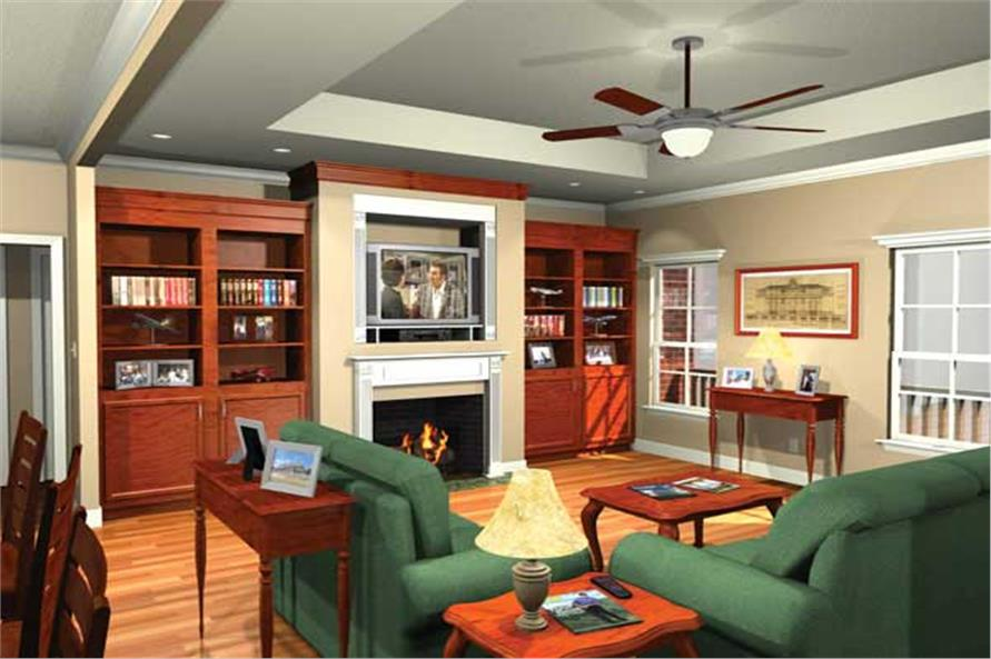 Home Plan 3D Image of this 4-Bedroom,2000 Sq Ft Plan -2000