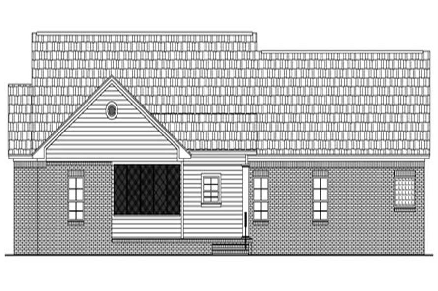 Home Plan Rear Elevation of this 4-Bedroom,2000 Sq Ft Plan -141-1233