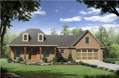 3-Bedroom, 1863 Sq Ft Country Home Plan - 141-1234 - Main Exterior