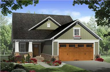 3-Bedroom, 2104 Sq Ft Country Home Plan - 141-1235 - Main Exterior