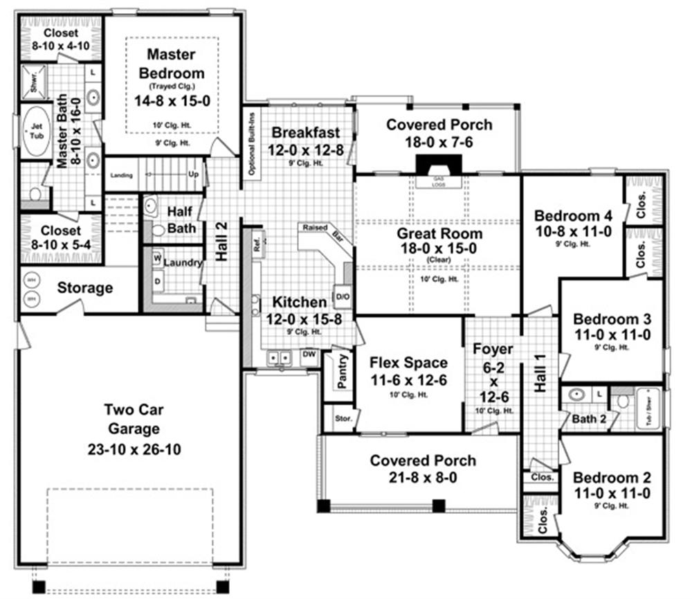 141-1236 house plan 1st floor
