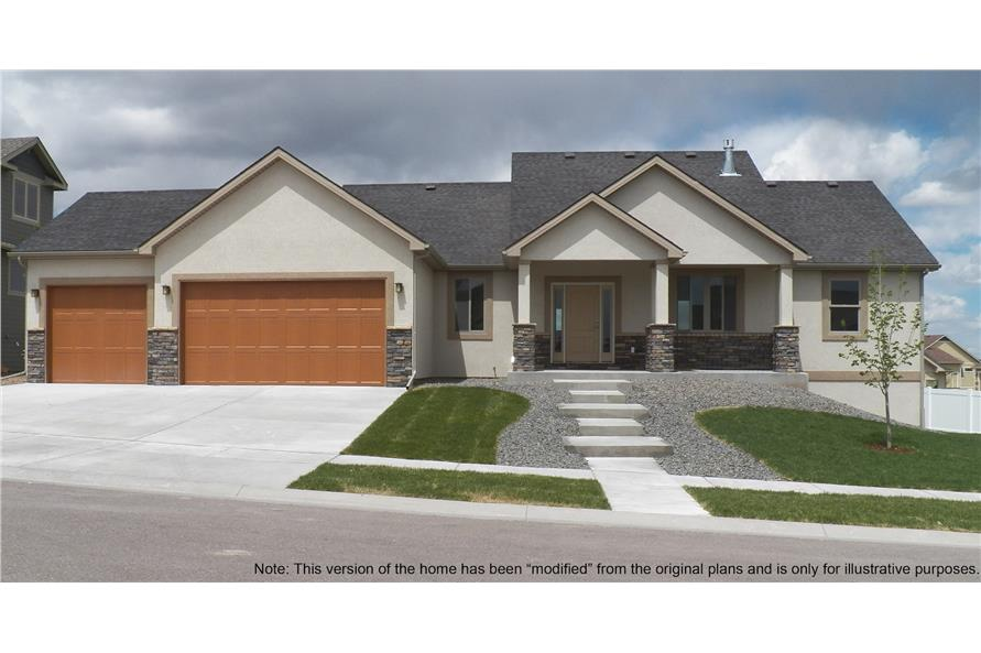 Front View of this 3-Bedroom,1509 Sq Ft Plan -1509
