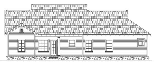 141-1238 house plan rear elevation