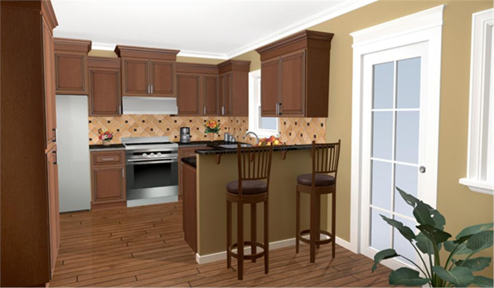 141-1238 house plan kitchen view 2