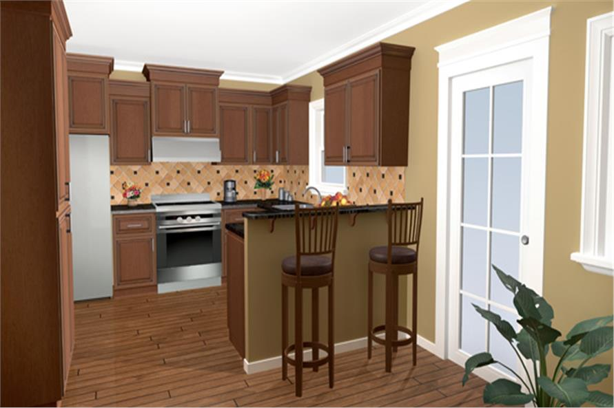 Kitchen of this 3-Bedroom,1509 Sq Ft Plan -1509