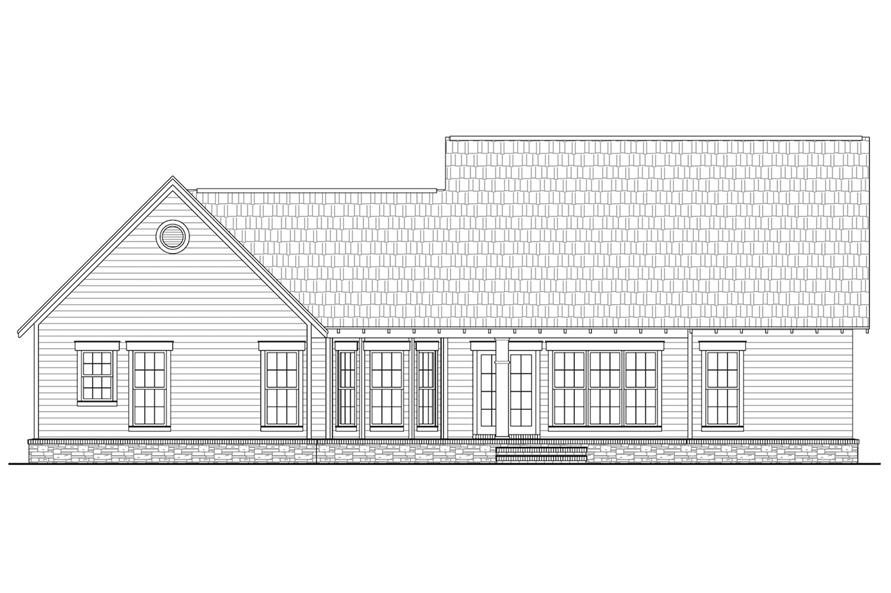 Home Plan Rear Elevation of this 3-Bedroom,1800 Sq Ft Plan -141-1239