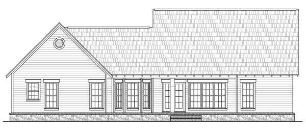 141-1239 house plan rear elevation