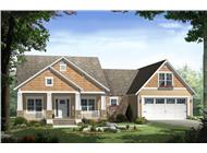 Front elevation of Country house plan 141-1239