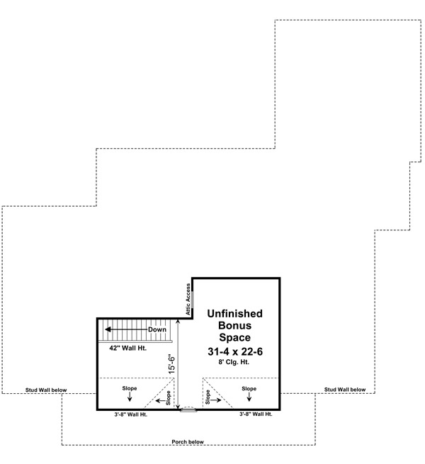 141-1240 house plan bonus room