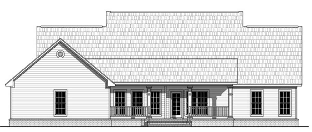 141-1240 house plan rear elevation