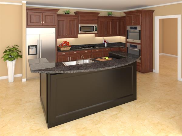 141-1240: Home Plan Rendering-Kitchen