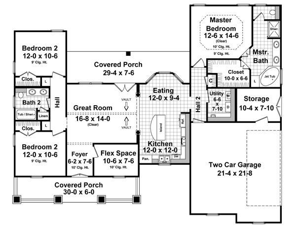 141-1241 house plan first floor
