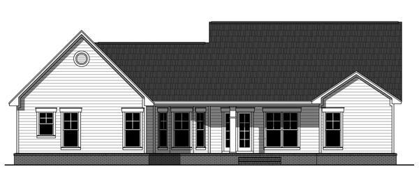 141-1241 house plan rear elevation