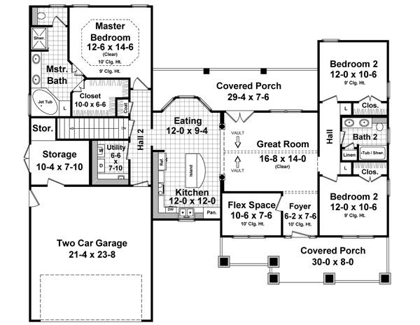 141-1242 house plan main floor