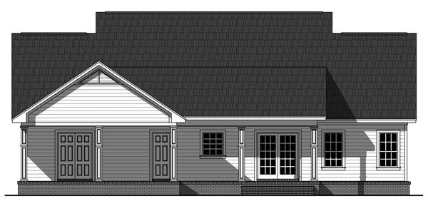 141-1243 house plan rear