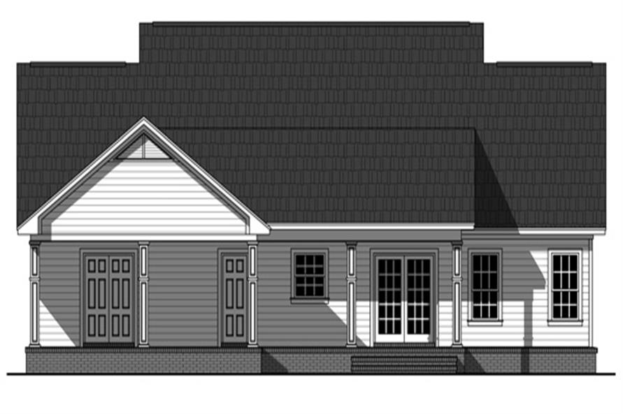 Home Plan Rear Elevation of this 3-Bedroom,1640 Sq Ft Plan -141-1243