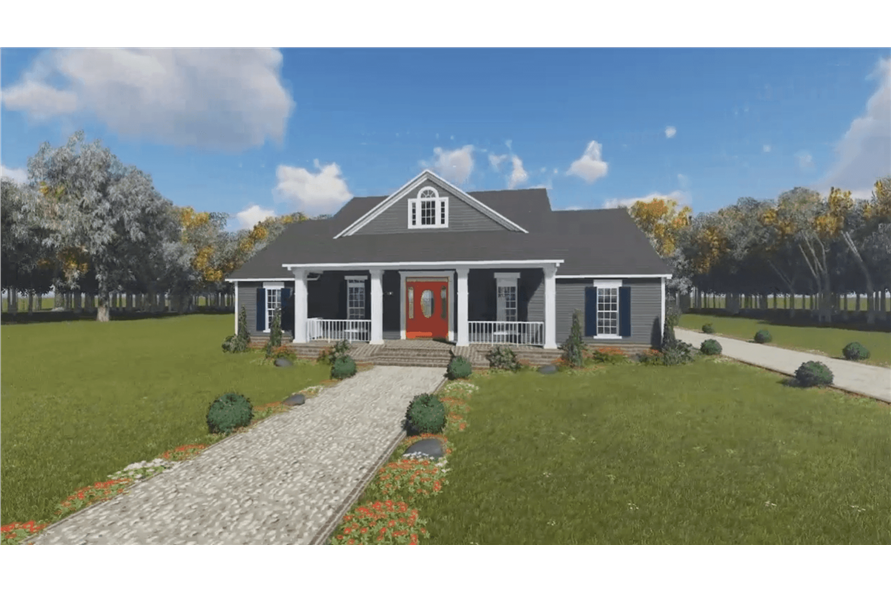 Front View of this 3-Bedroom,1640 Sq Ft Plan -1640
