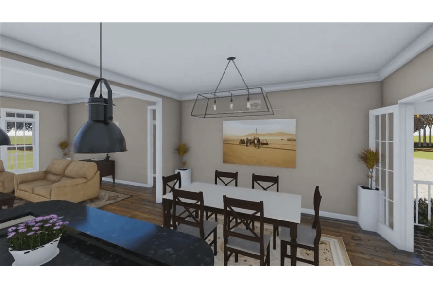 Dining Room of this 3-Bedroom,1640 Sq Ft Plan -1640