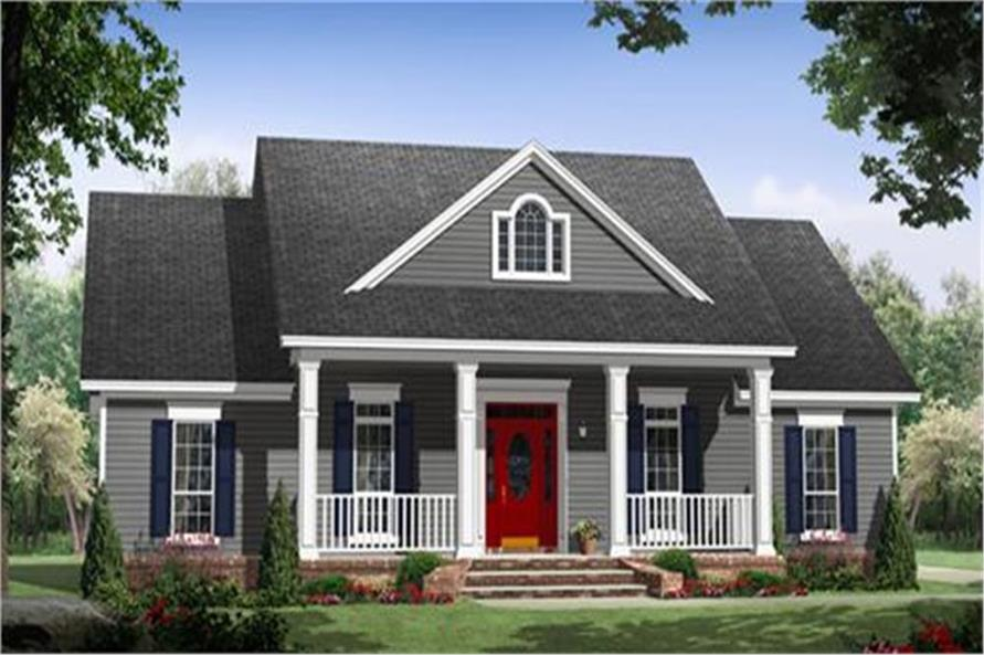 3 bedrm  1640 sq ft country house plan  141