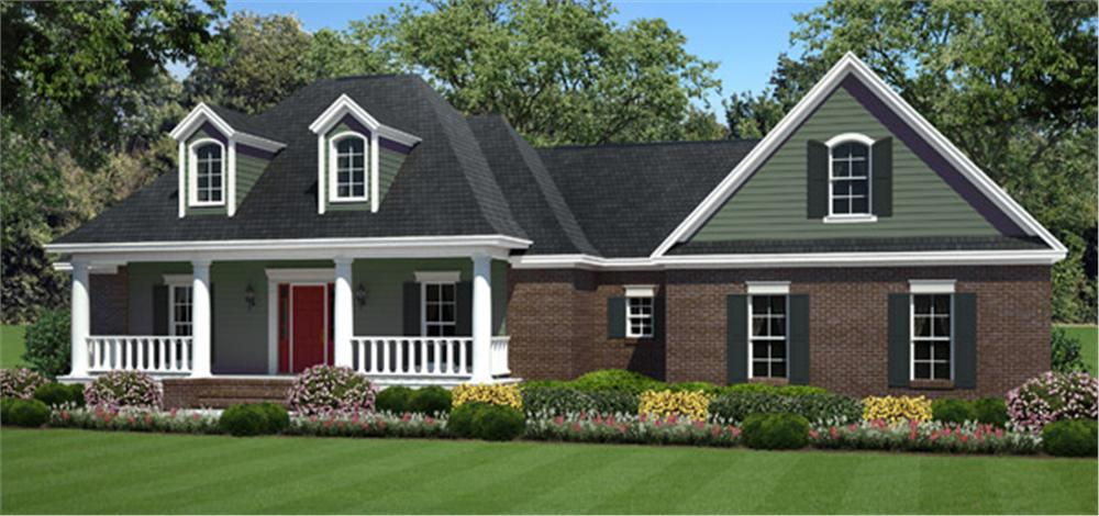141-1244 house plan front elevation