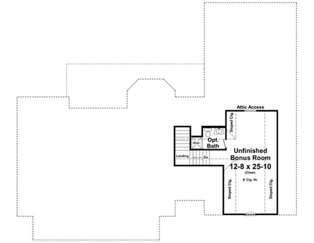 141-1244 house plan bonus room