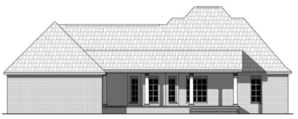 141-1244 house plan rear elevation