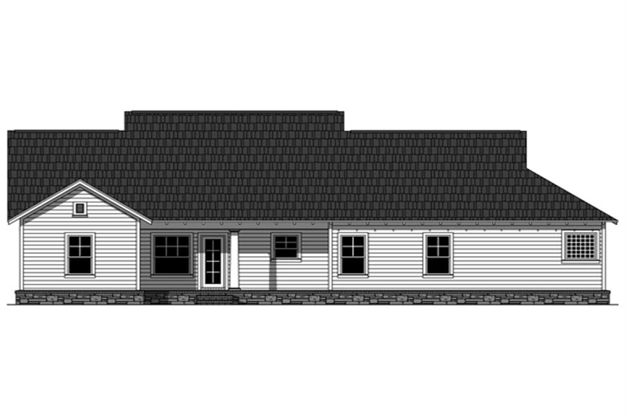 Home Plan Rear Elevation of this 3-Bedroom,1876 Sq Ft Plan -141-1246
