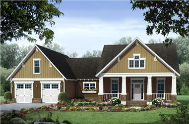 3-Bedroom, 1940 Sq Ft Craftsman House - Plan #141-1247 - Front Exterior