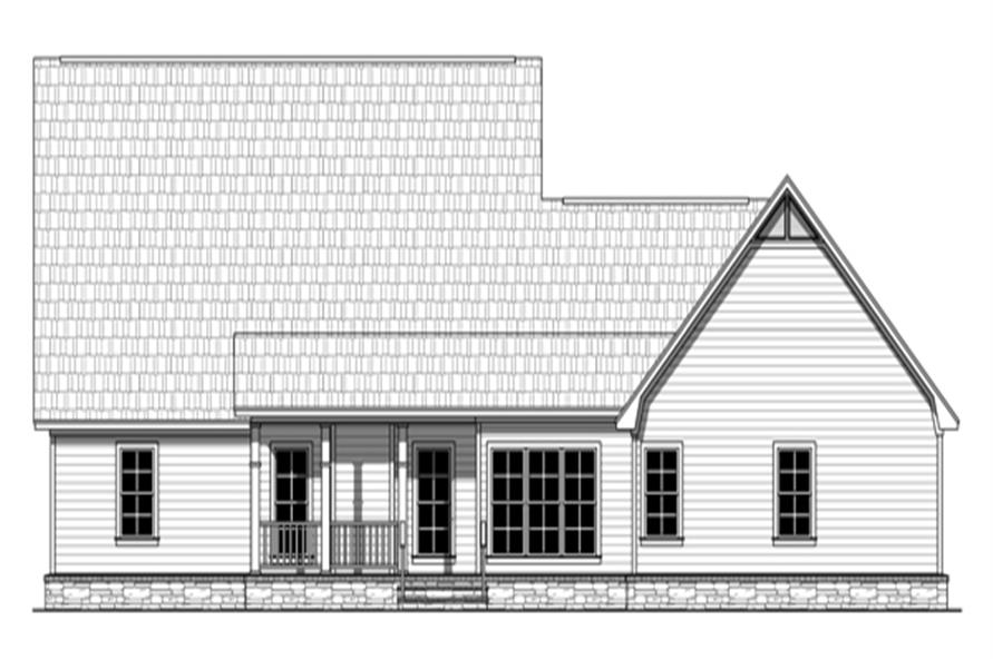 141-1249: Home Plan Rear Elevation