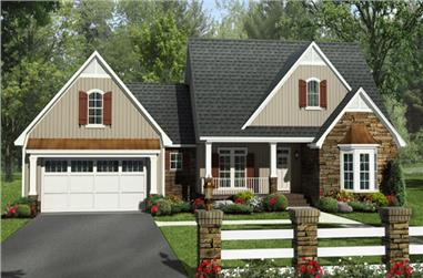 4-Bedroom, 2258 Sq Ft Craftsman House Plan - 141-1249 - Front Exterior