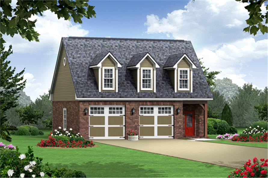 #141 1252 · 1 Bedroom, 979 Sq Ft Country House Plan   141 1252   Front