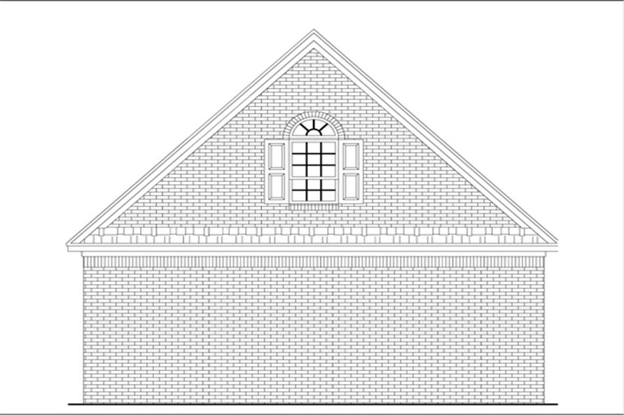 141-1253: Home Plan Rear Elevation