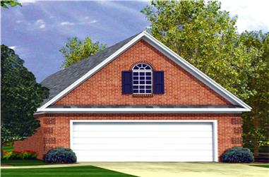 0-Bedroom, 331 Sq Ft Garage House Plan - 141-1253 - Front Exterior