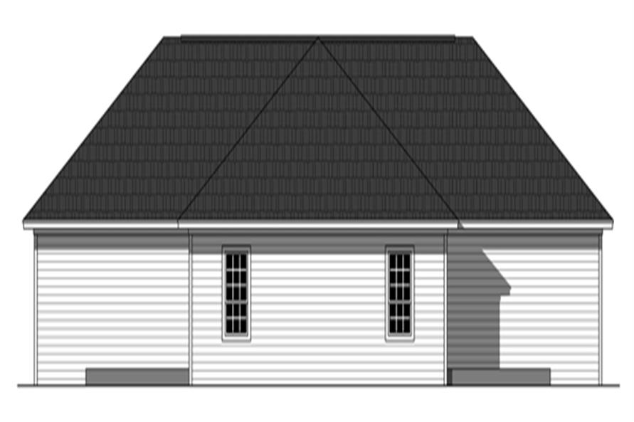 Home Plan Rear Elevation of this 3-Bedroom,2340 Sq Ft Plan -141-1254