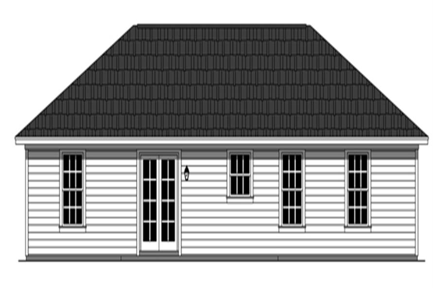 Home Plan Rear Elevation of this 3-Bedroom,1200 Sq Ft Plan -141-1255