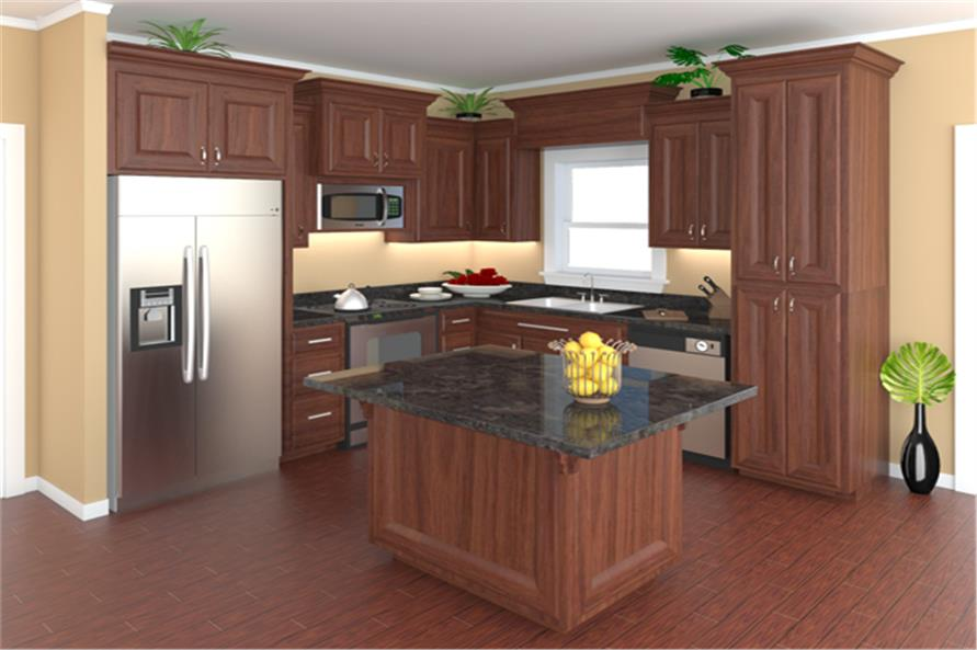 141-1257: Home Plan Rendering-Kitchen