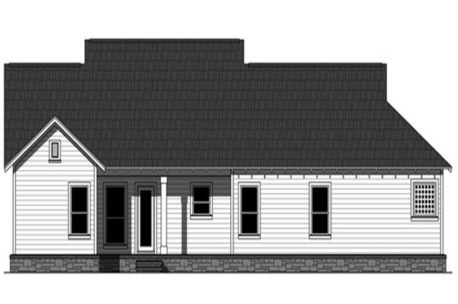 141-1257: Home Plan Rear Elevation