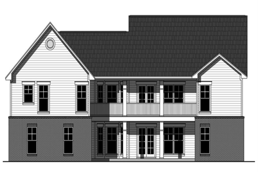 141-1258: Home Plan Rear Elevation